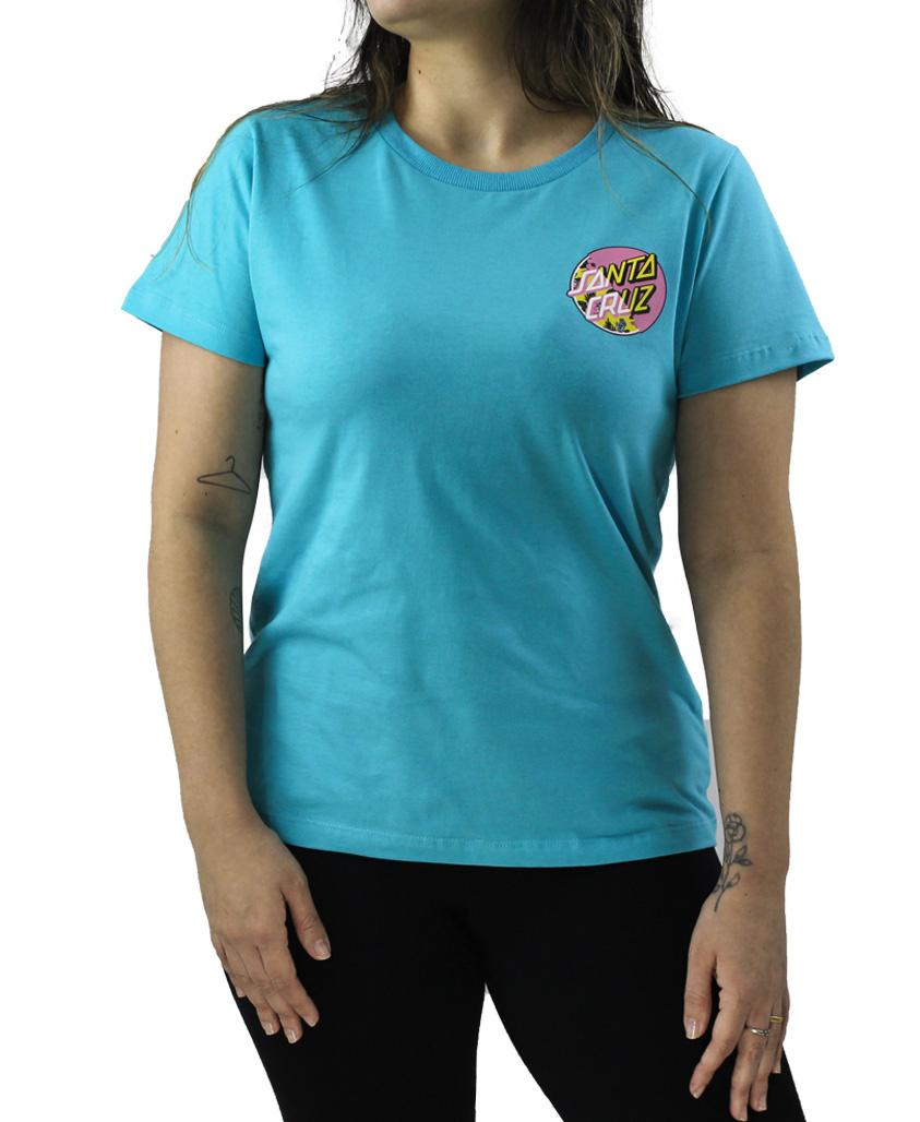 Camiseta Feminina Santa Cruz Vacation Other Splice Azul Turquesa