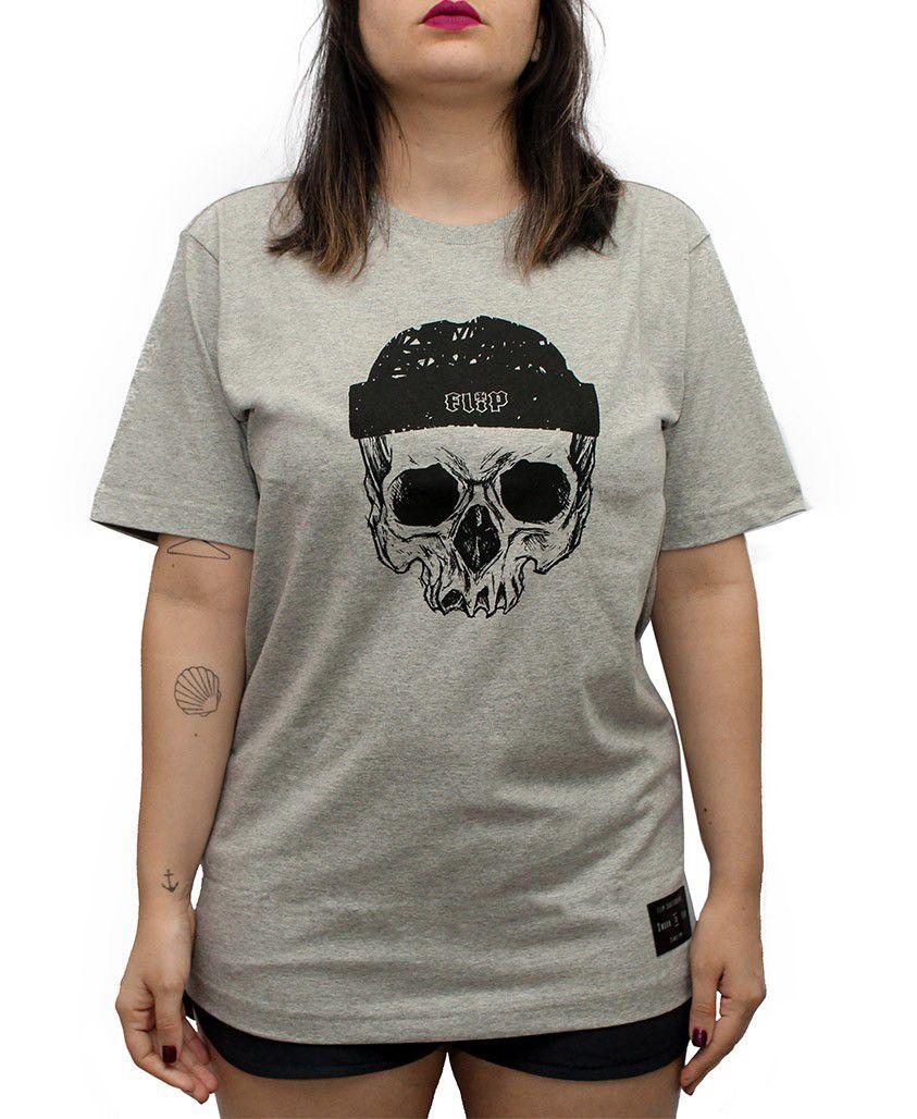 Camiseta Flip Beanie Cinza Mescla
