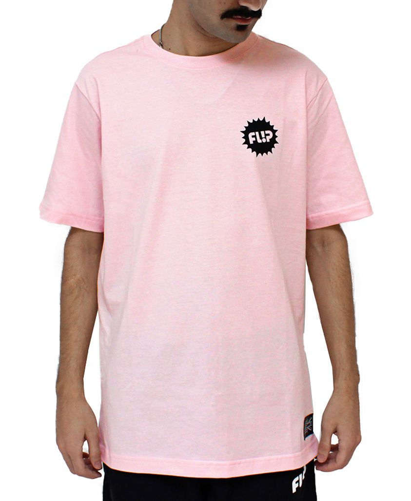 Camiseta Flip Black Splash Rosa
