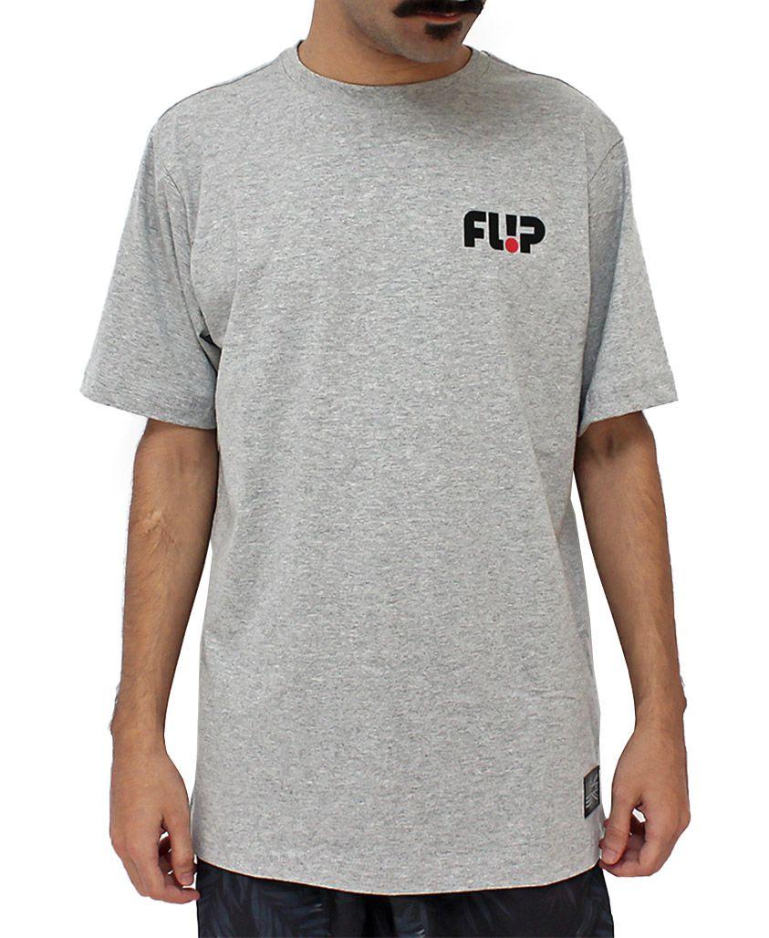Camiseta Flip Odyssey Chest Cinza