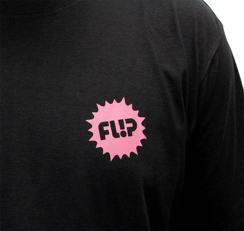 Camiseta Flip Pink Splash Preta