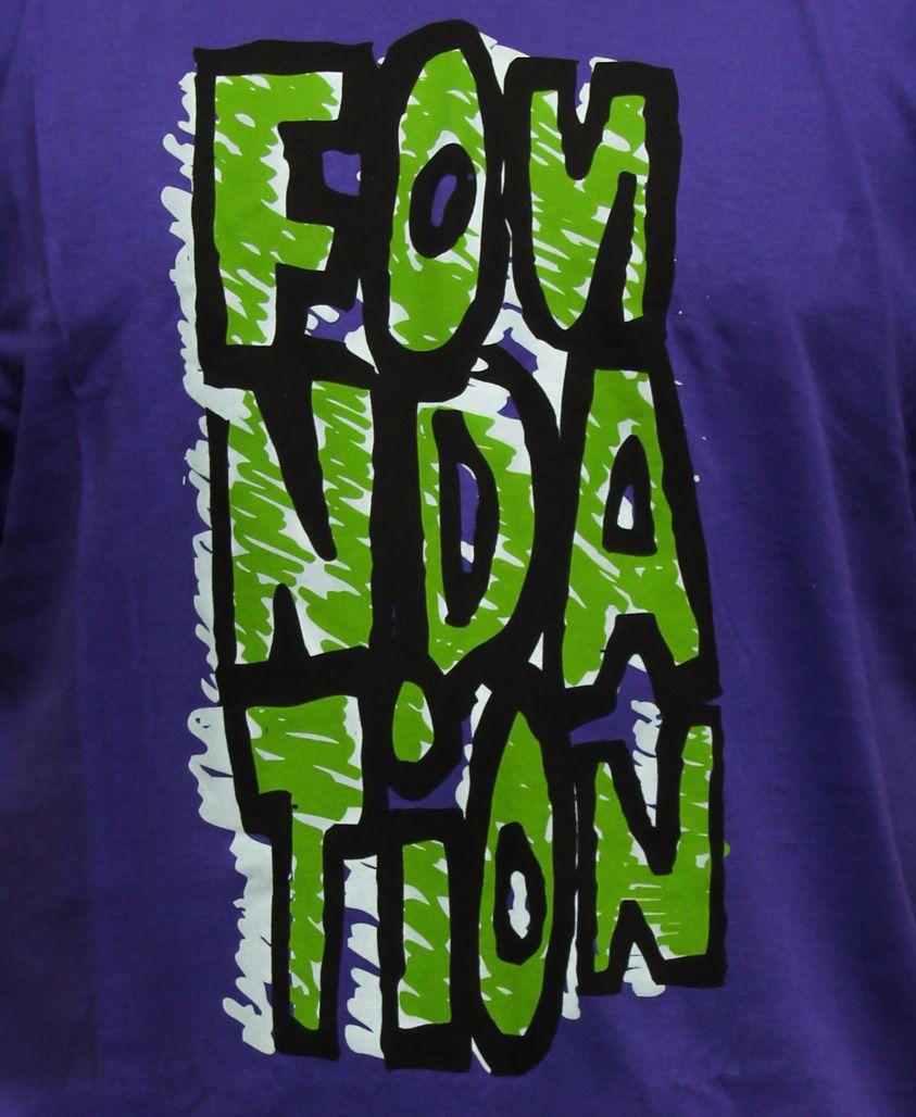 Camiseta Foundation Fs Blockie Tee Purple