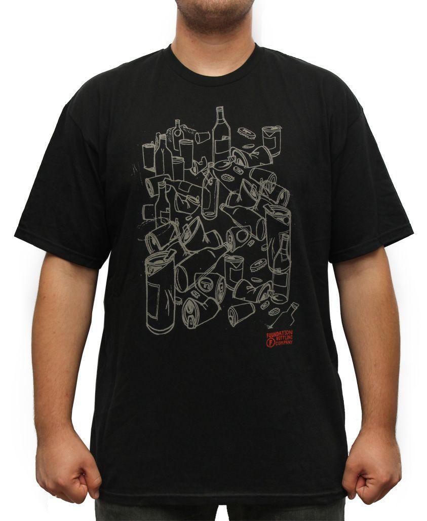 Camiseta Foundation Fs Bottle Co Preta