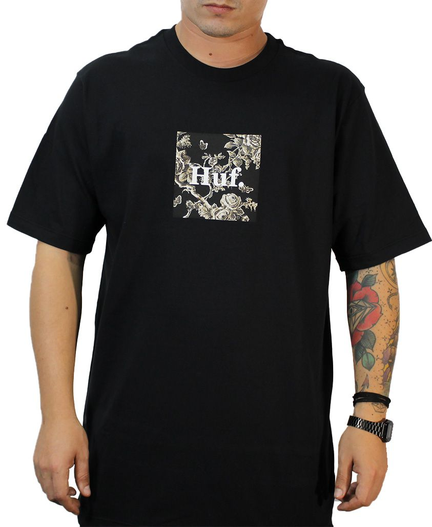CAMISETA HUF MC HIGHLINE BOX PRETA