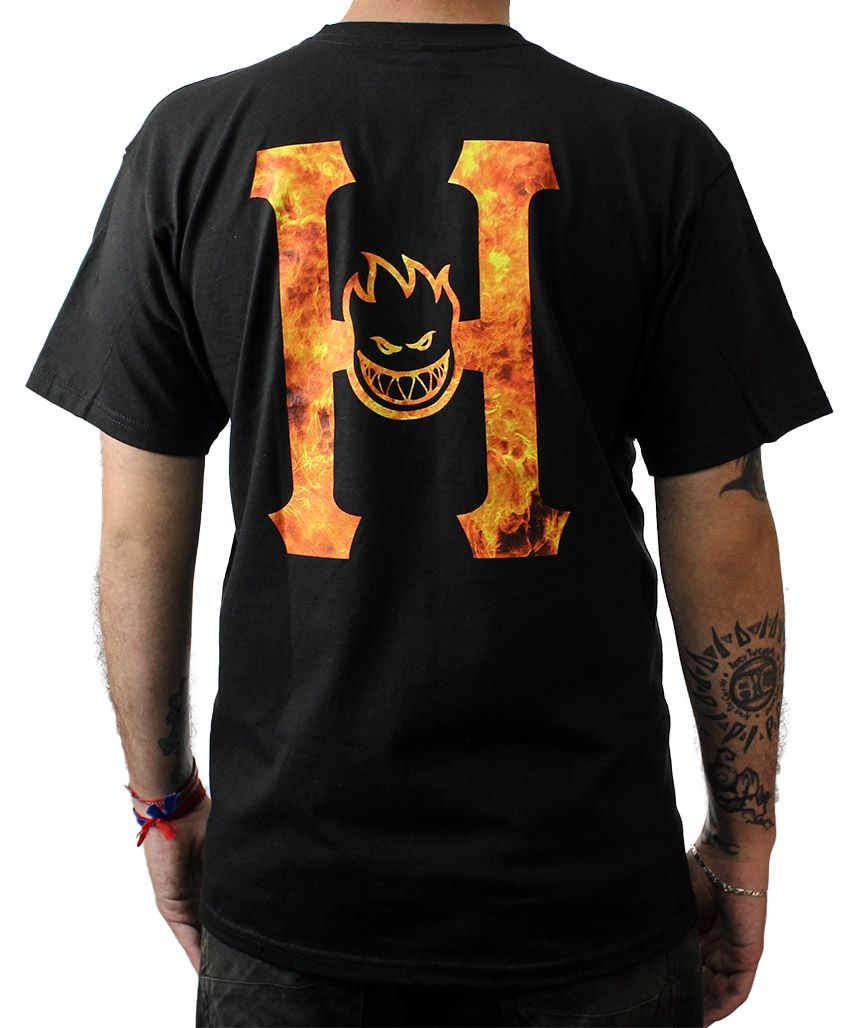 CAMISETA HUF X SPITFIRE FLAMING H