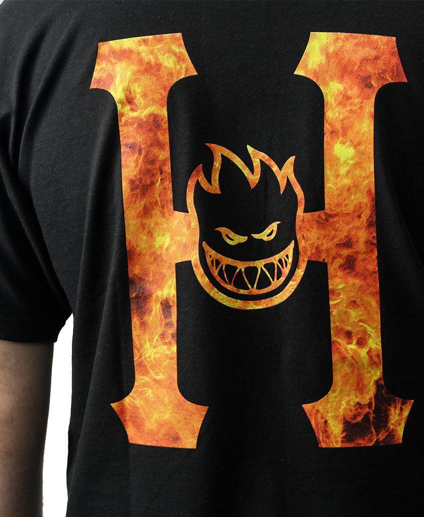CAMISETA HUF X SPITFIRE FLAMING H