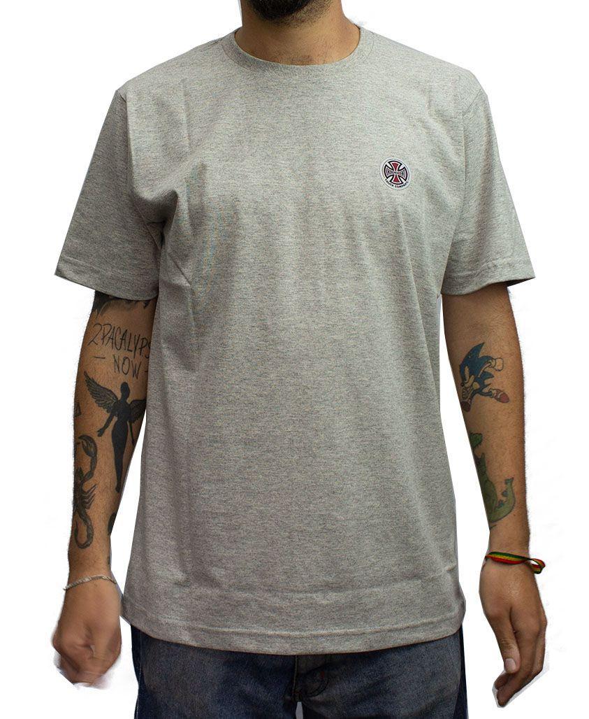 Camiseta Independent BARC Cross Logo Cinza Mescla