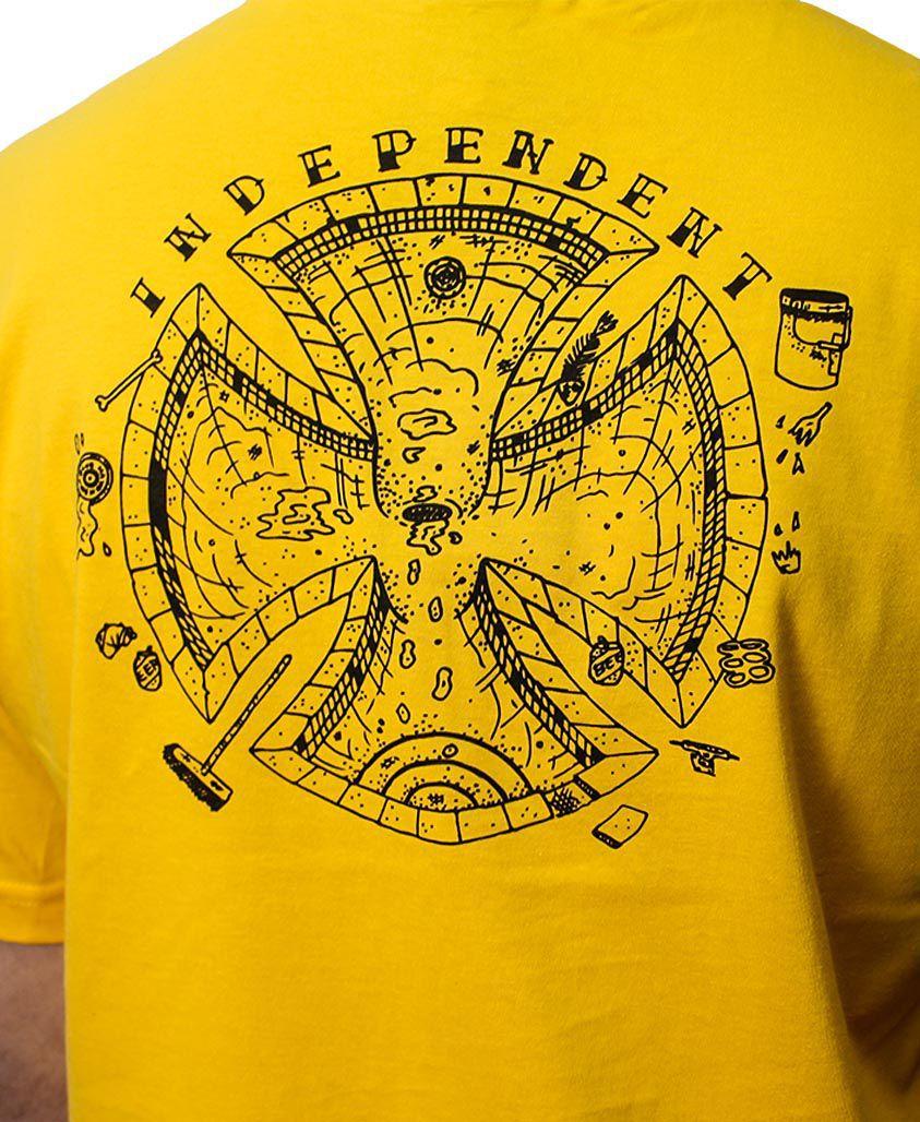 Camiseta Independent Pool Scum Amarela