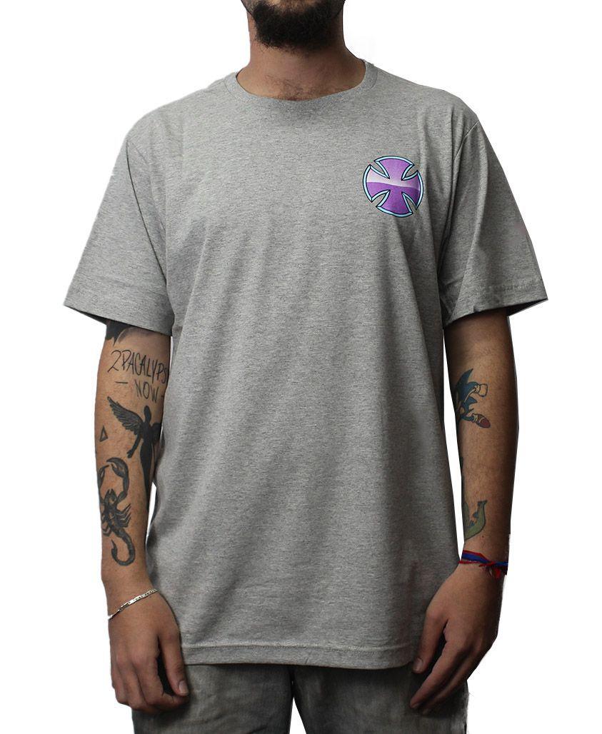Camiseta Independent Purple Chrome  Cinza Mescla