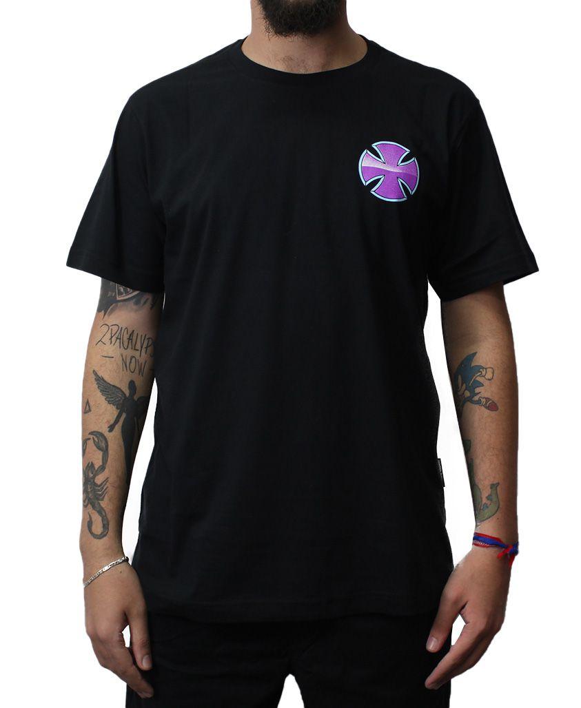 Camiseta Independent Purple Chrome  Preta