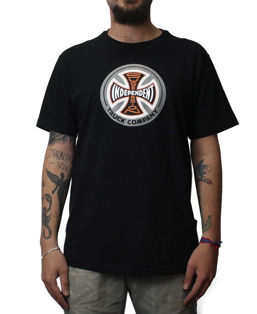 Camiseta Independent TRUCKS Suspension Sketch Preta