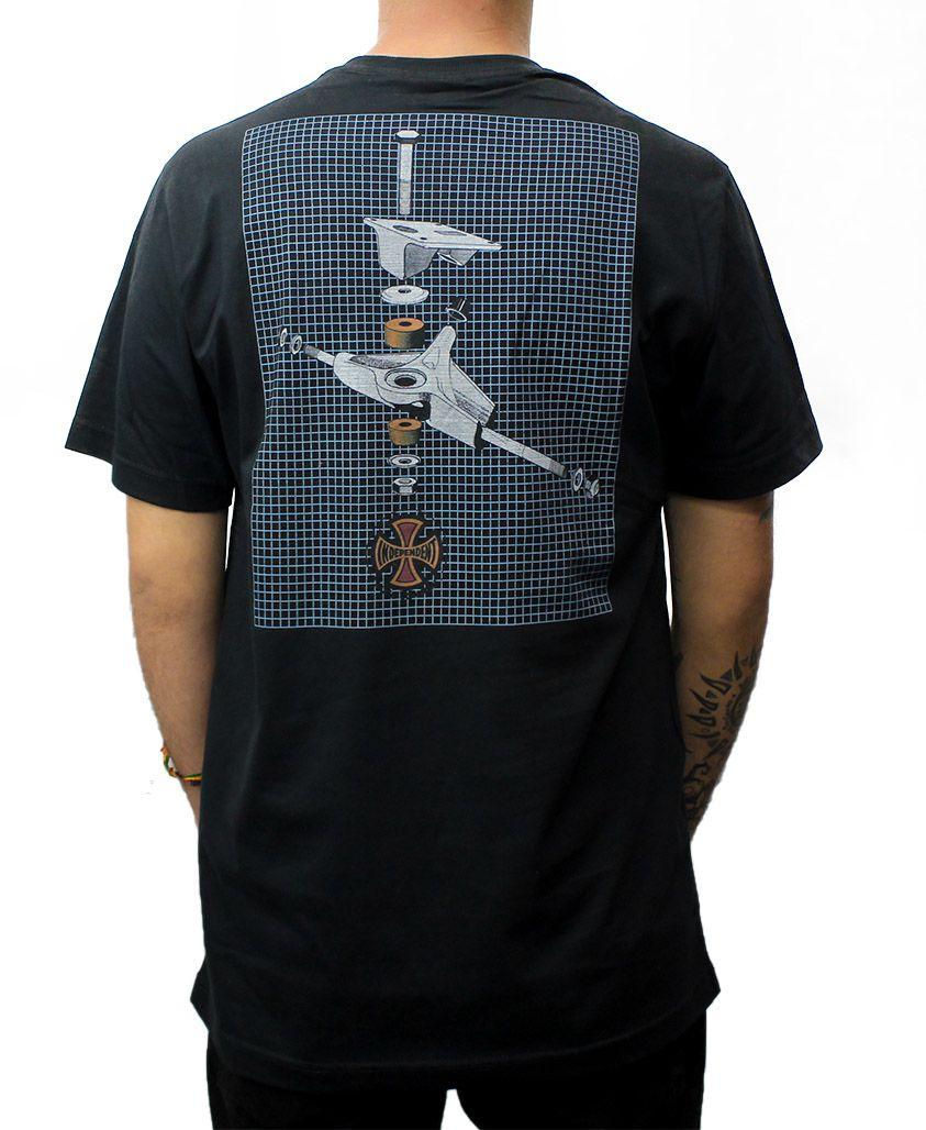 Camiseta Independent x Thrasher BTG Preta