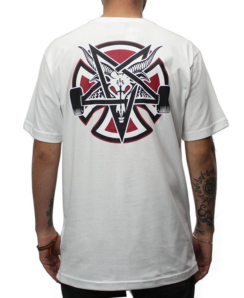 Camiseta Independent x Thrasher Pentagram Branca