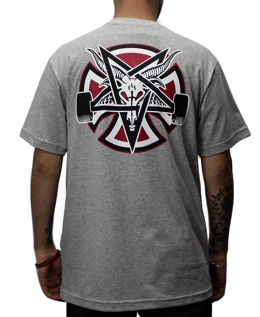 Camiseta Independent x Thrasher Pentagram Cinza