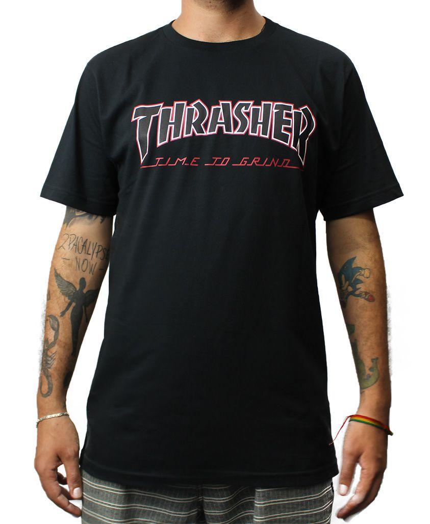 Camiseta Independent x Thrasher TTG Preta