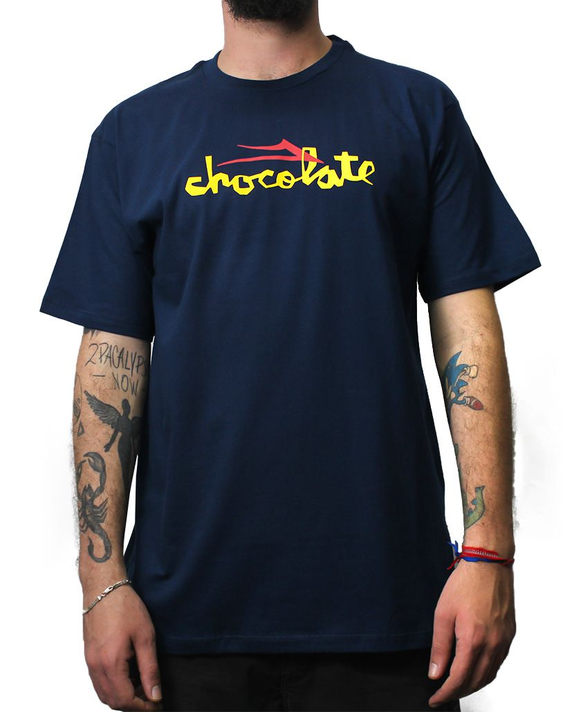 Camiseta Lakai x Chocolate Flare Azul Navy
