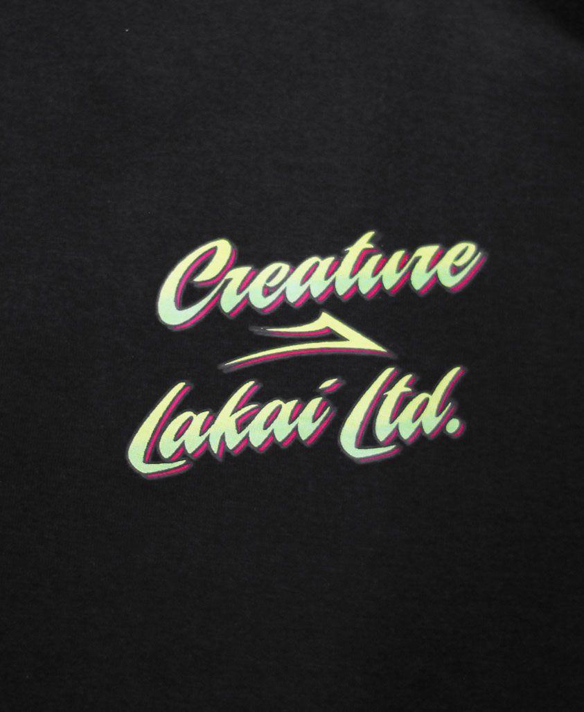 Camiseta Lakai x Creature Preta