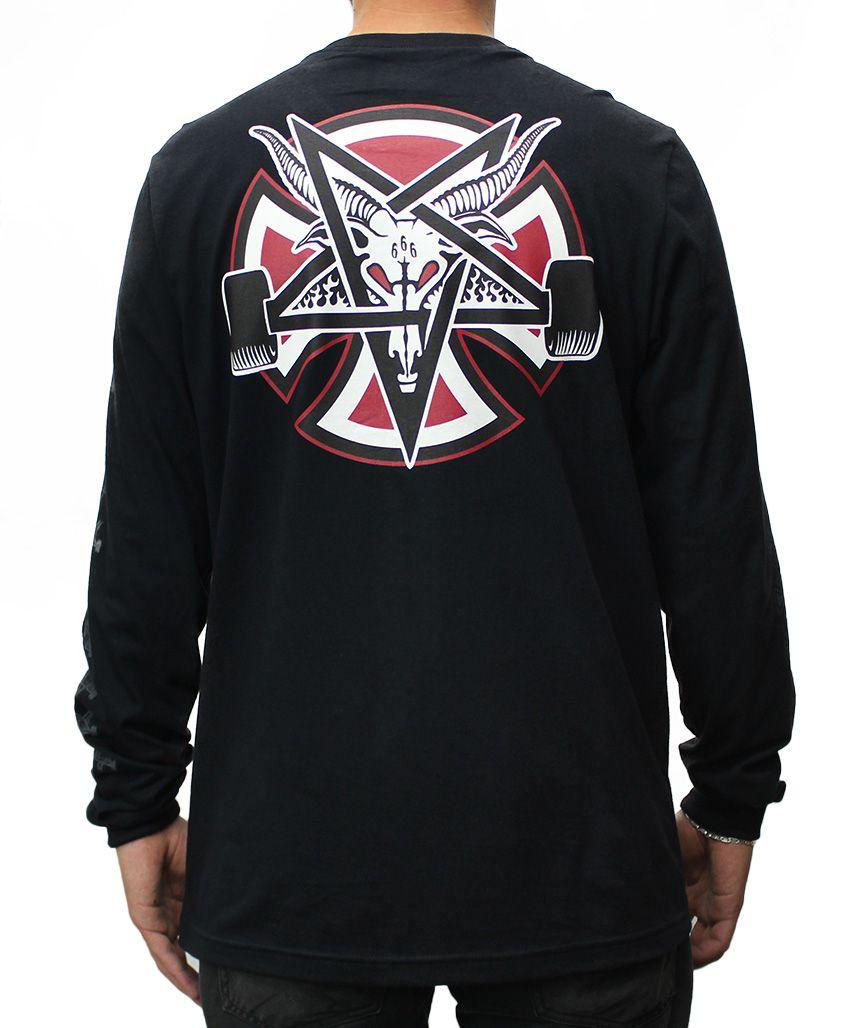 Camiseta Manga Longa Independent x Thrasher Pentagram Preta - PMA ... b5f92f83d74