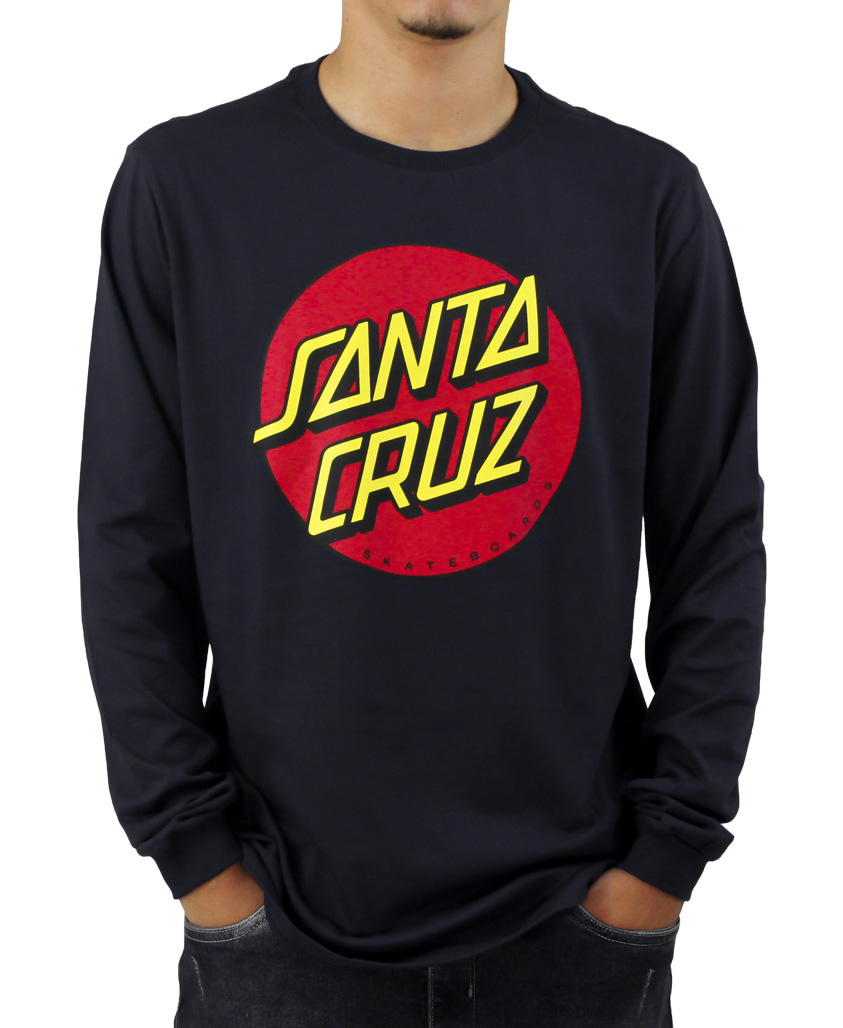 Camiseta Manga Longa Santa Cruz Classic Preta