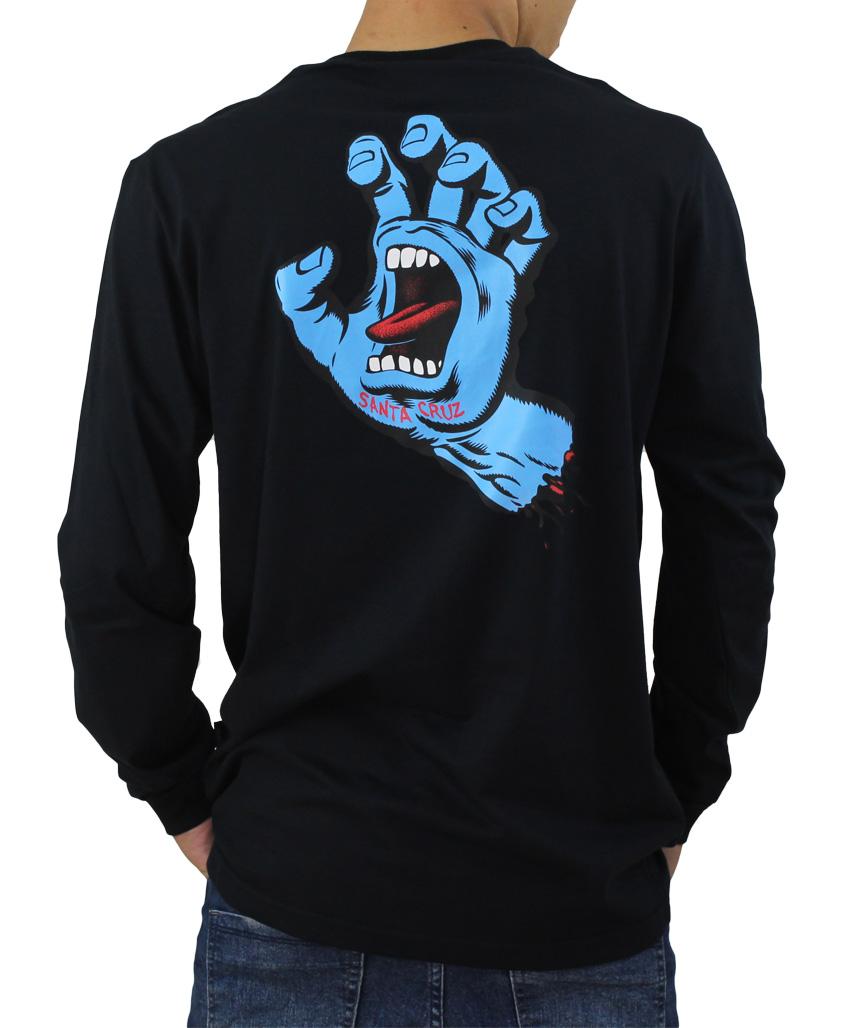 Camiseta Manga Longa Santa Cruz Screaming Hand Preta