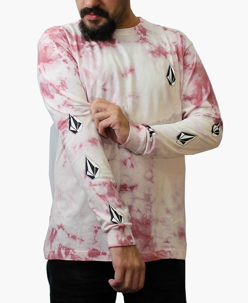 Camiseta Manga Longa Volcom Deadly Stones Tie Dye