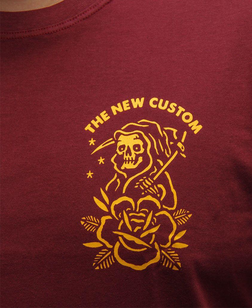 Camiseta New Custom Reaper Bordo