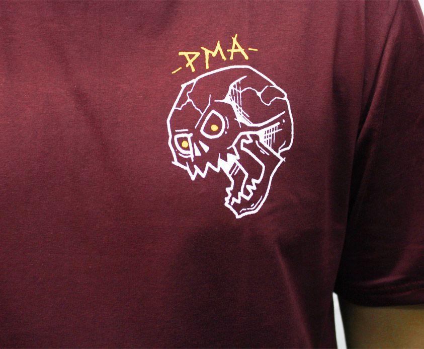 Camiseta PMA Falling Skull Bordo