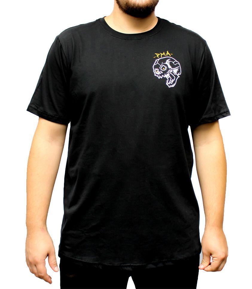 Camiseta PMA Falling Skull Preta