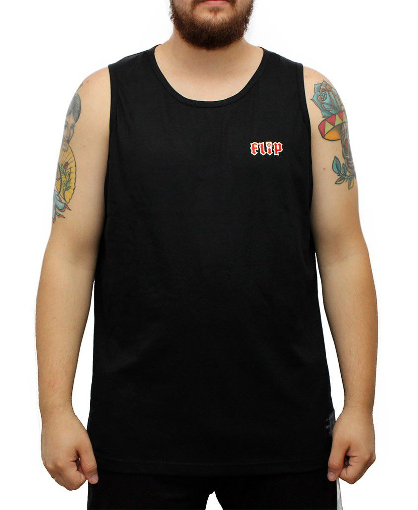 Camiseta Regata Flip HKD Chest Preta