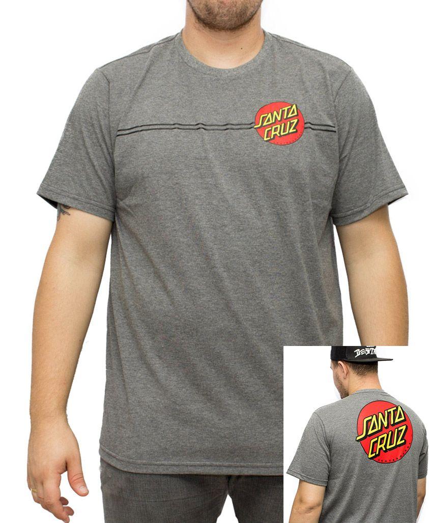 Camiseta Santa Cruz Classic Dot 2 Cinza Mescla