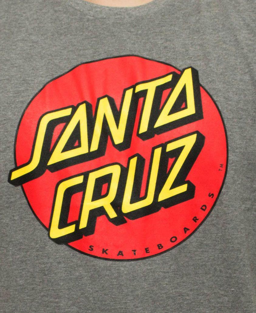 Camiseta Santa Cruz Classic Dot Cinza Mescla