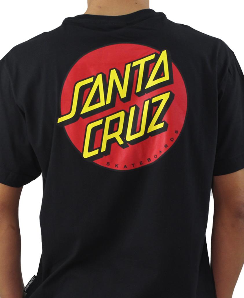 Camiseta Santa Cruz Classic Dot Preta