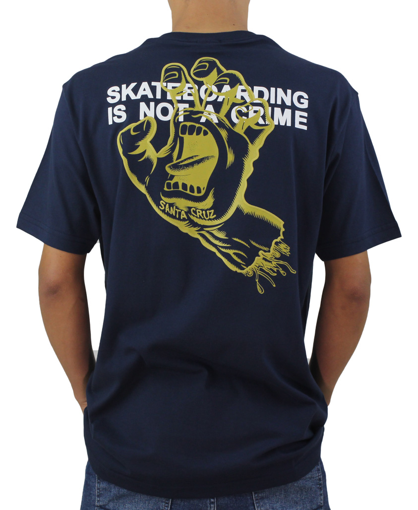 Camiseta Santa Cruz Crime Hand Marinho
