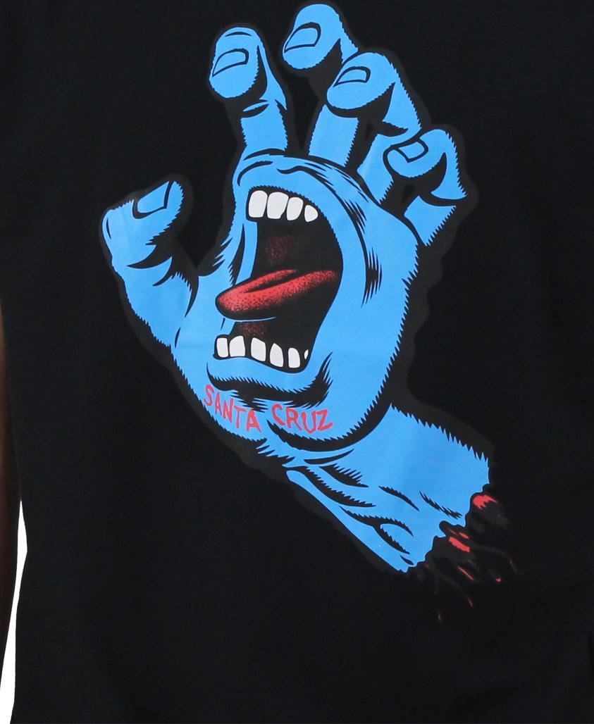 Camiseta Santa Cruz Screaming Hand Preta