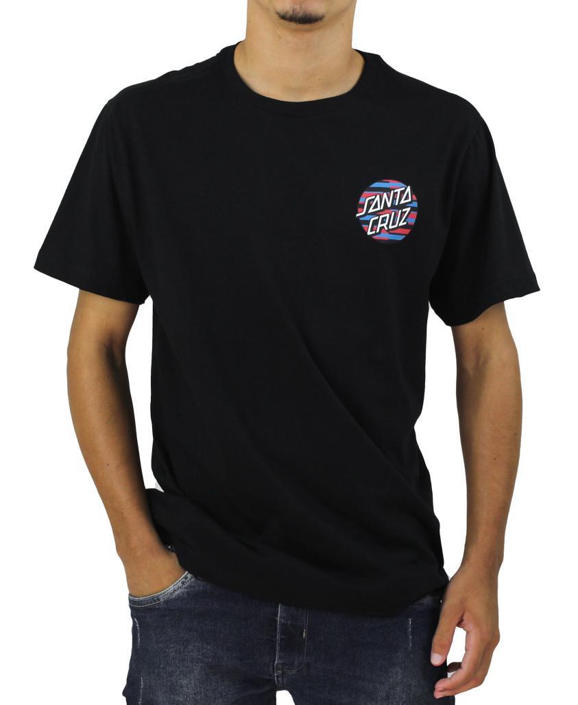 Camiseta Santa Cruz Stripe Dot Preta