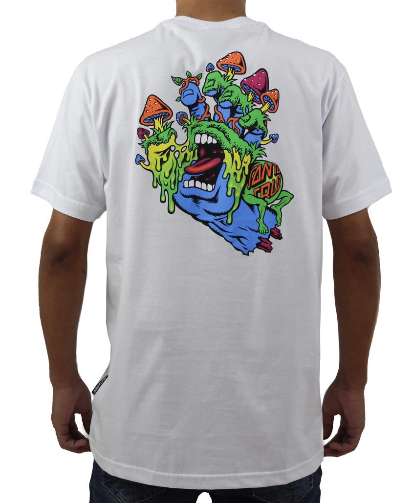 Camiseta Santa Cruz Toxic Hand Branca