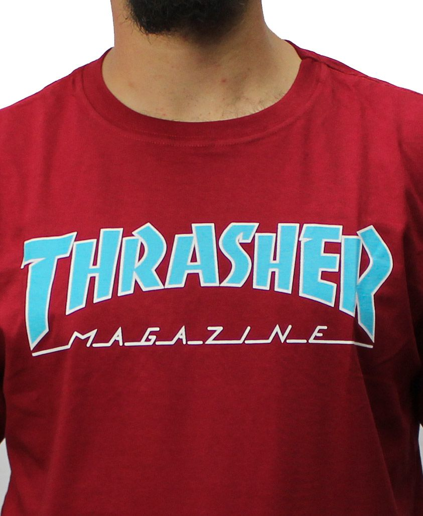 Camiseta Thrasher Magazine Outlined Vermelha