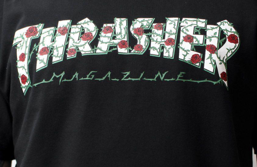 Camiseta Thrasher Magazine Roses Preta
