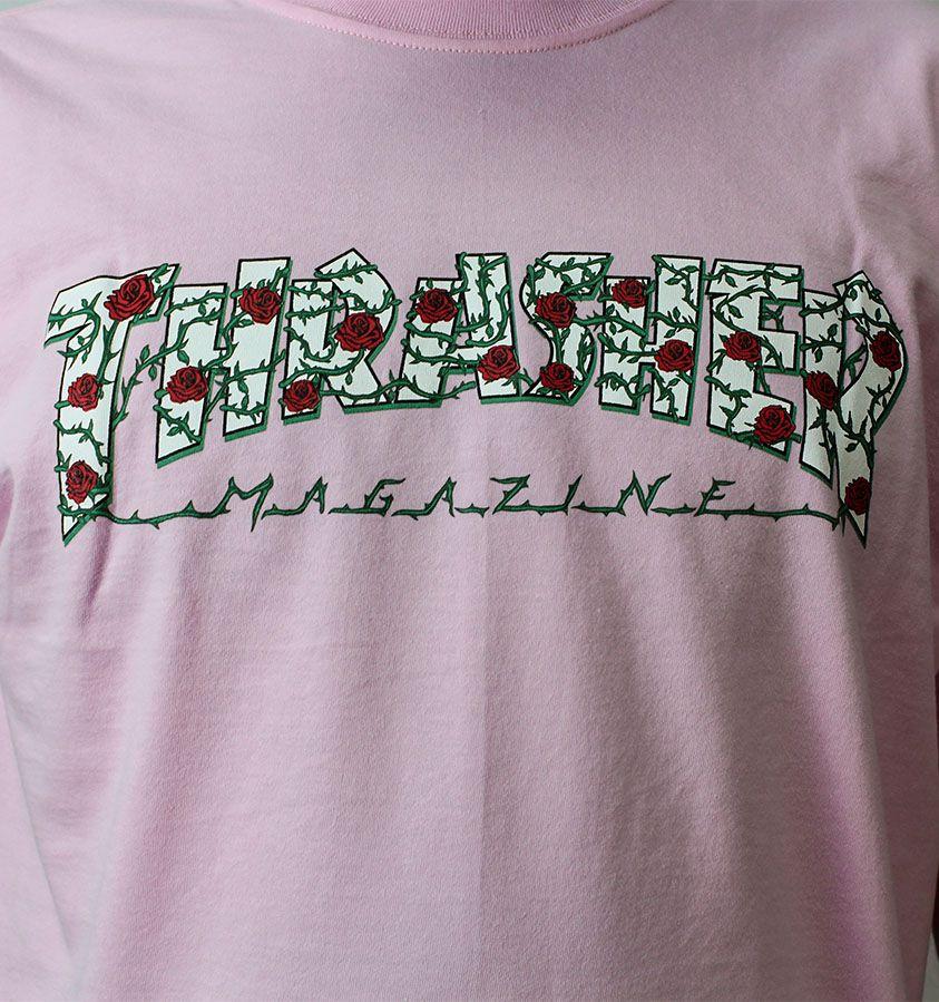 Camiseta Thrasher Magazine Roses Rosa