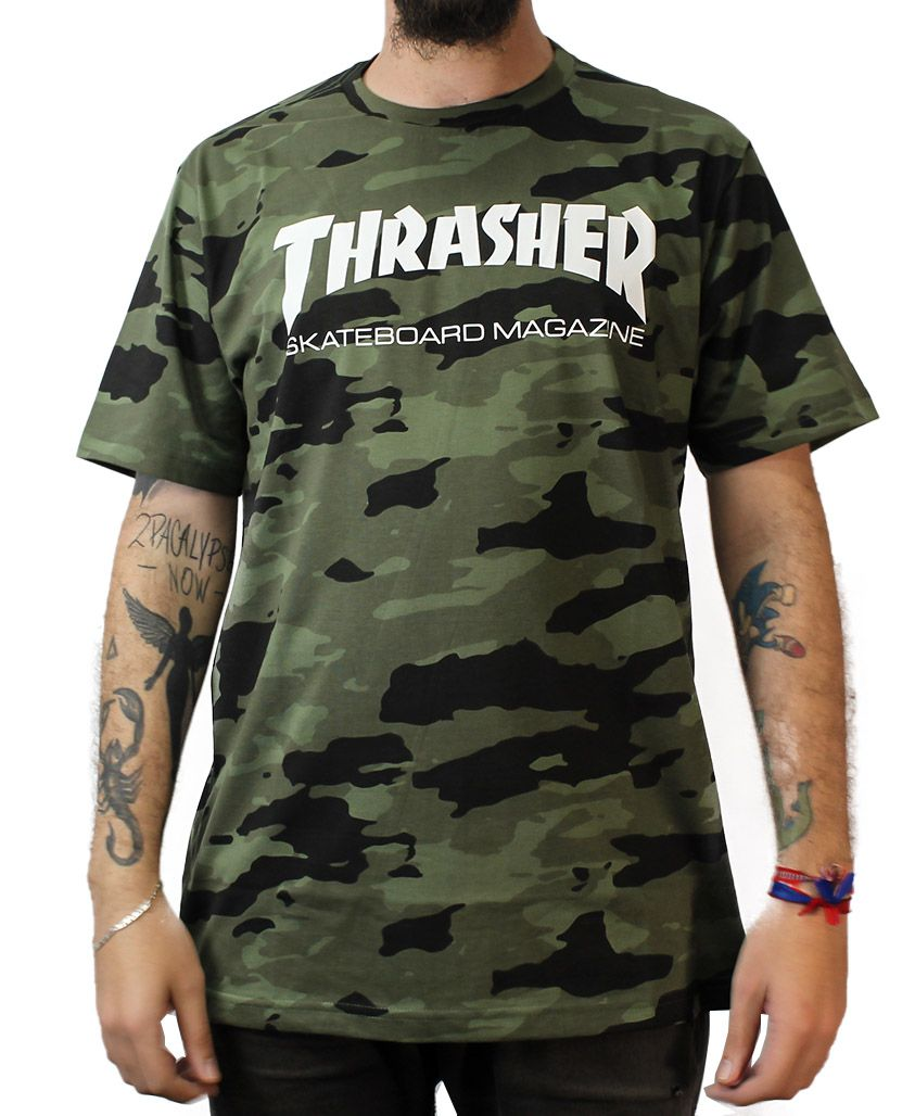 Camiseta Thrasher Magazine Skate Mag Camo