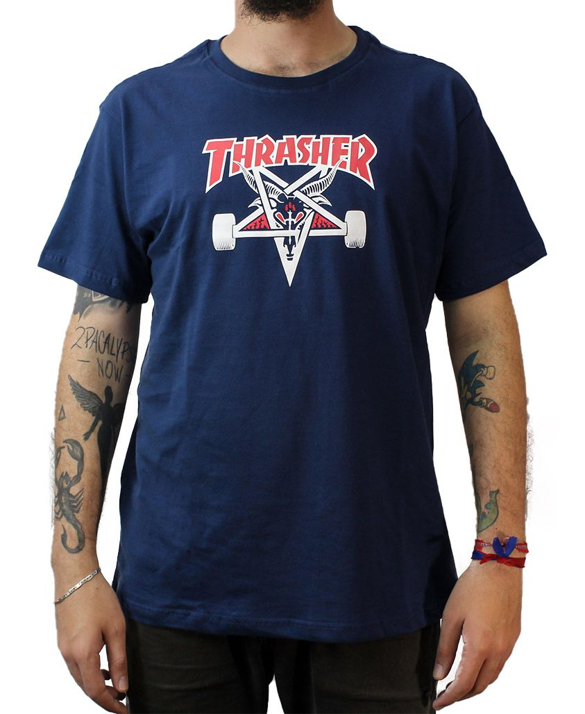Camiseta Thrasher Magazine Two Tone Goat Marinho