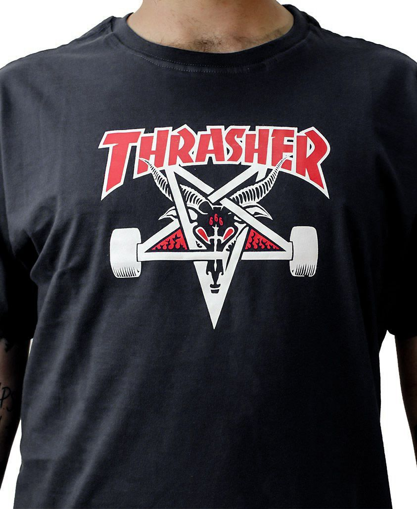 Camiseta Thrasher Magazine Two Tone Goat Preta