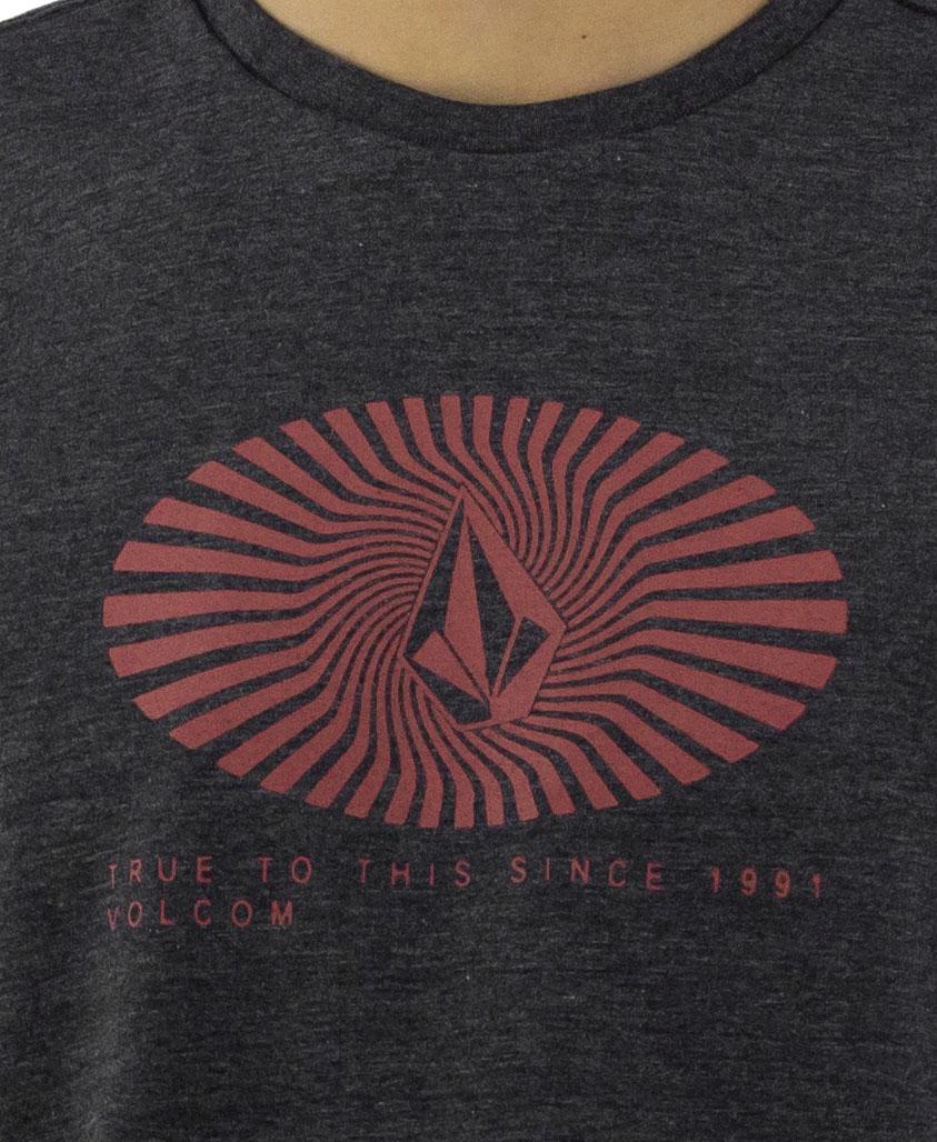 Camiseta Volcom Blurd Preto Mescla