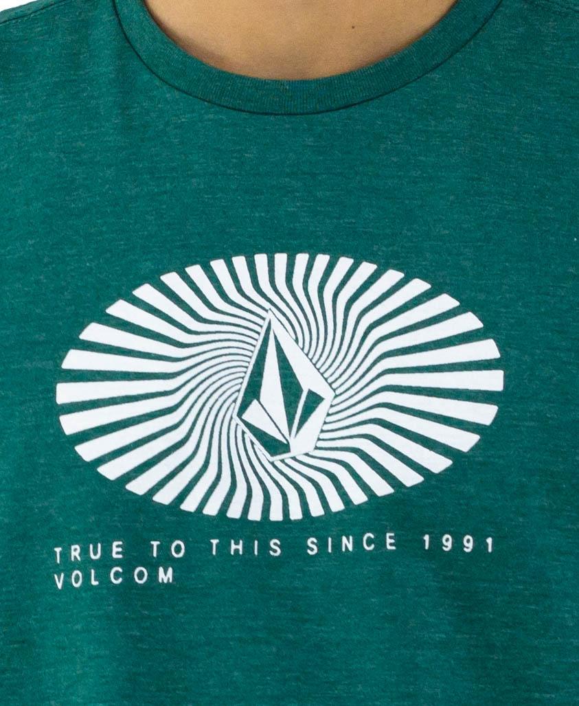 Camiseta Volcom Blurd Verde Mescla
