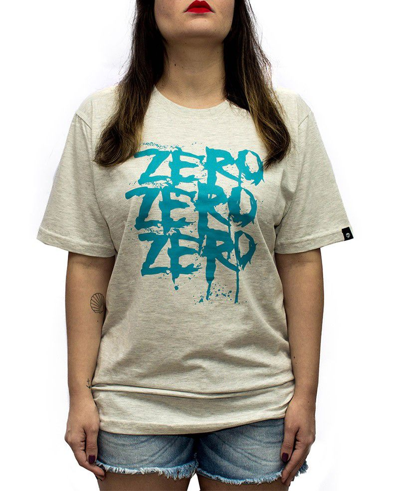 CAMISETA ZERO THREE CINZA MESCLA