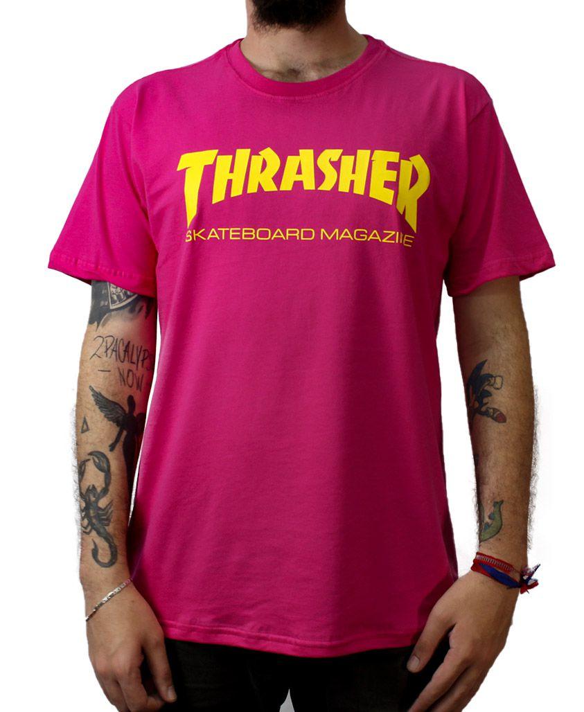 Camiseta Thrasher Magazine Skate Mag Pink
