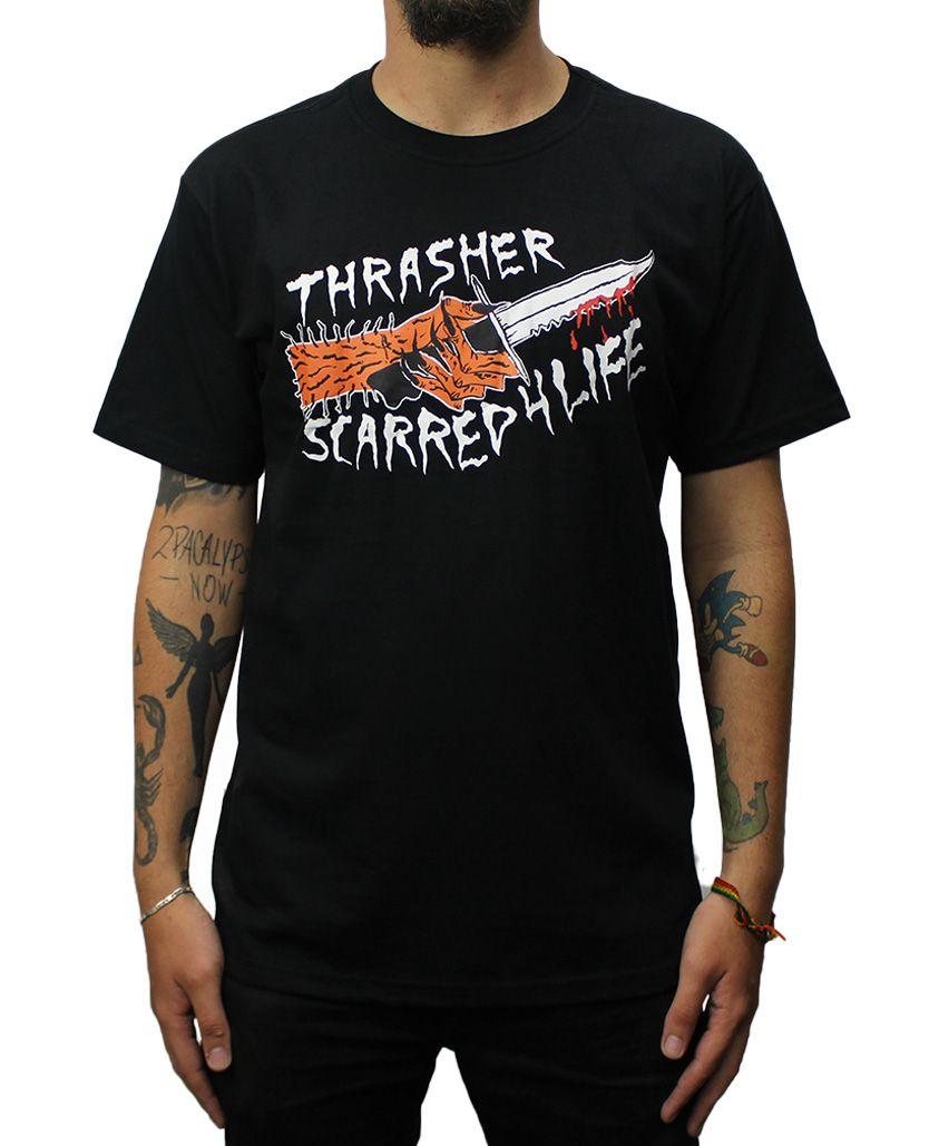Camiseta Thrasher Scarred Preta
