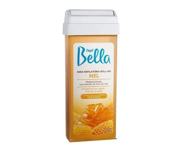 Cera Depilatória Roll-on Mel 100g- Depil Bella