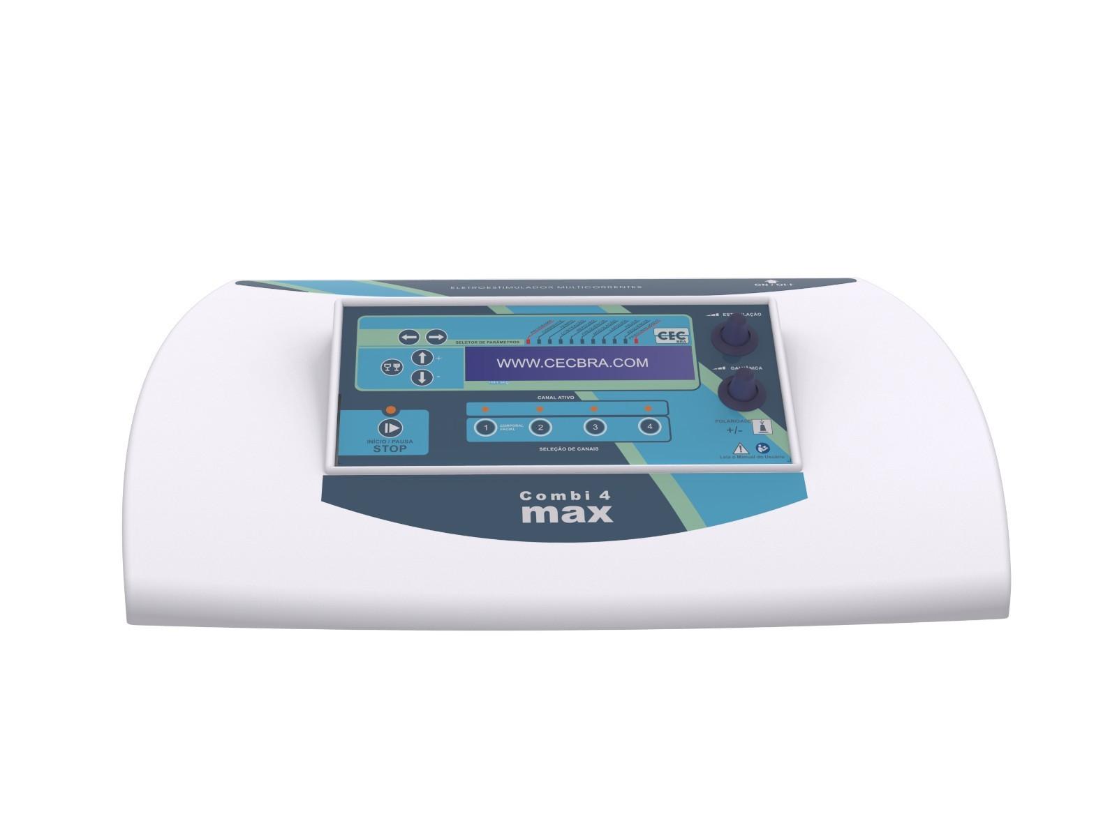 COMBI 4 MAX - Multicorrentes e Galvânica 4 Canais + Facial - CECBRA