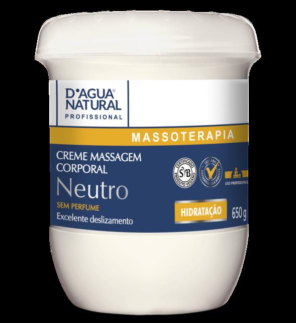Creme de Massagem Neutro - D'Agua natural